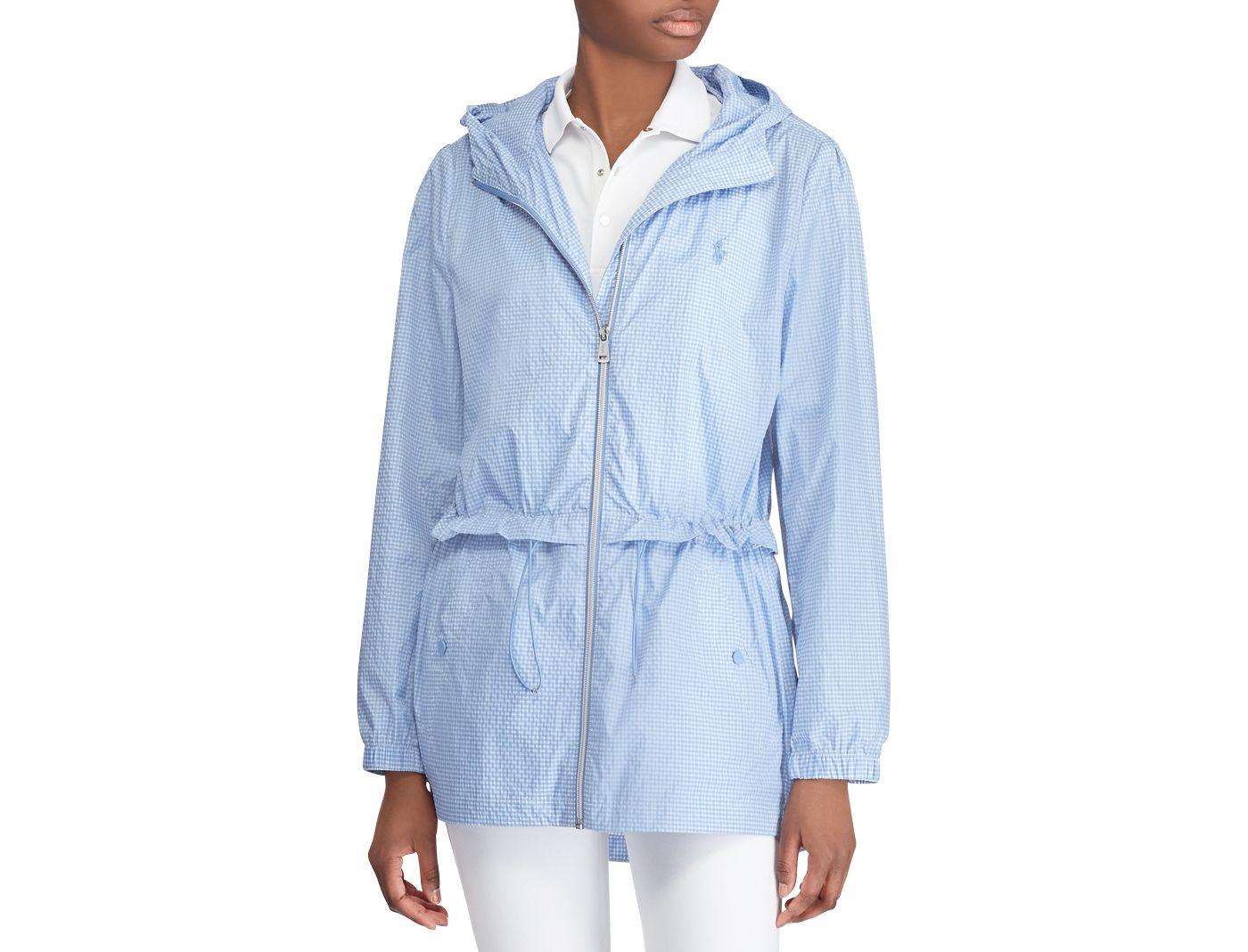 Polo Golf Women's Seersucker Hooded Golf Jacket