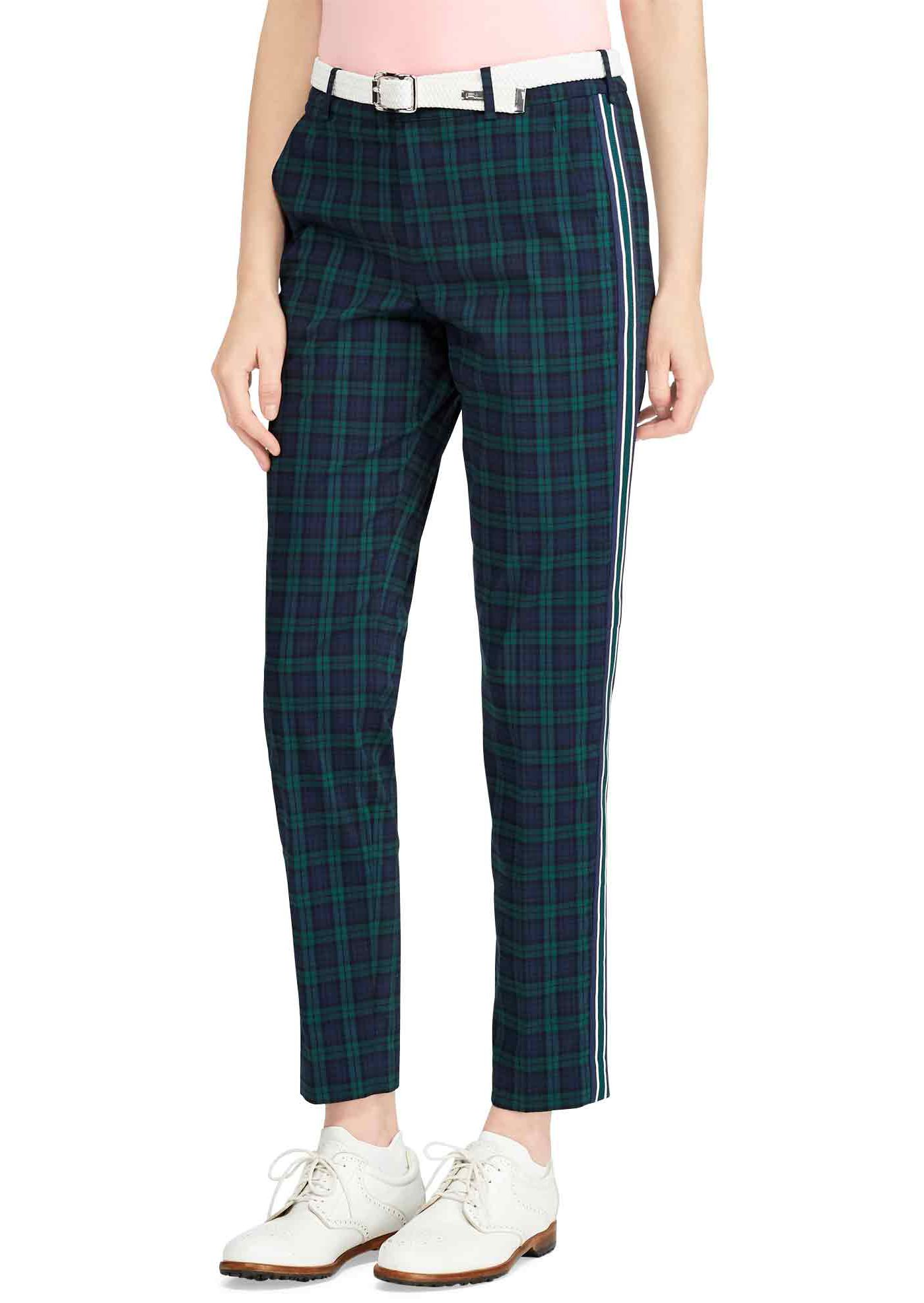 Polo Golf Women's Plaid Stretch Skinny Golf Pants