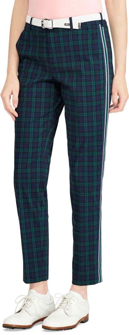 Polo Golf Women's Plaid Stretch Skinny Golf Pants