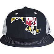 Aksels Men's Maryland State Flag Flat Brim Hat