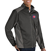 Antigua Men's Chicago Cubs Revolve Grey Full-Zip Jacket