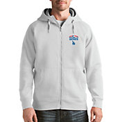Antigua Men's 2018 World Series Los Angeles Dodgers White Victory Full-Zip Sweatshirt