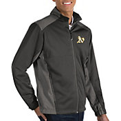 Antigua Men's Oakland Athletics Revolve Grey Full-Zip Jacket