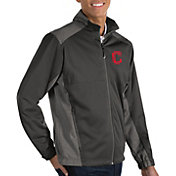 Antigua Men's Cleveland Indians Revolve Grey Full-Zip Jacket
