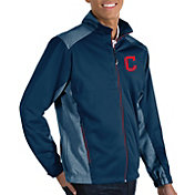 Antigua Men's Cleveland Indians Revolve Navy Full-Zip Jacket