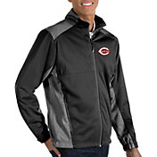 Antigua Men's Cincinnati Reds Revolve Black Full-Zip Jacket