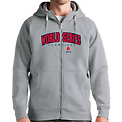 Antigua Men's 2018 World Series Champions Boston Red Sox Grey Victory Full-Zip Hoodie