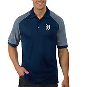 Antigua Men's Detroit Tigers Engage Navy Polo
