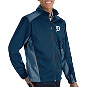 Antigua Men's Detroit Tigers Revolve Navy Full-Zip Jacket