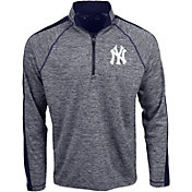 Antigua Men's New York Yankees Advantage Quarter-Zip Pullover