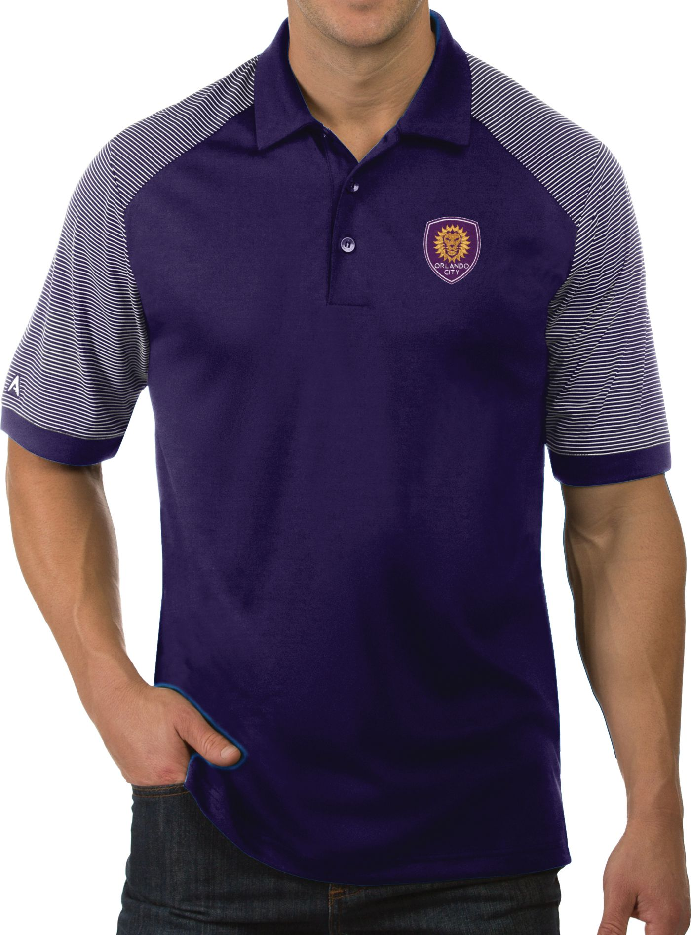 Antigua Men's Orlando City Engage Purple Polo