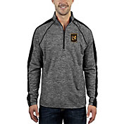 Antigua Men's Los Angeles FC Advantage Black Heathered Quarter-Zip Pullover