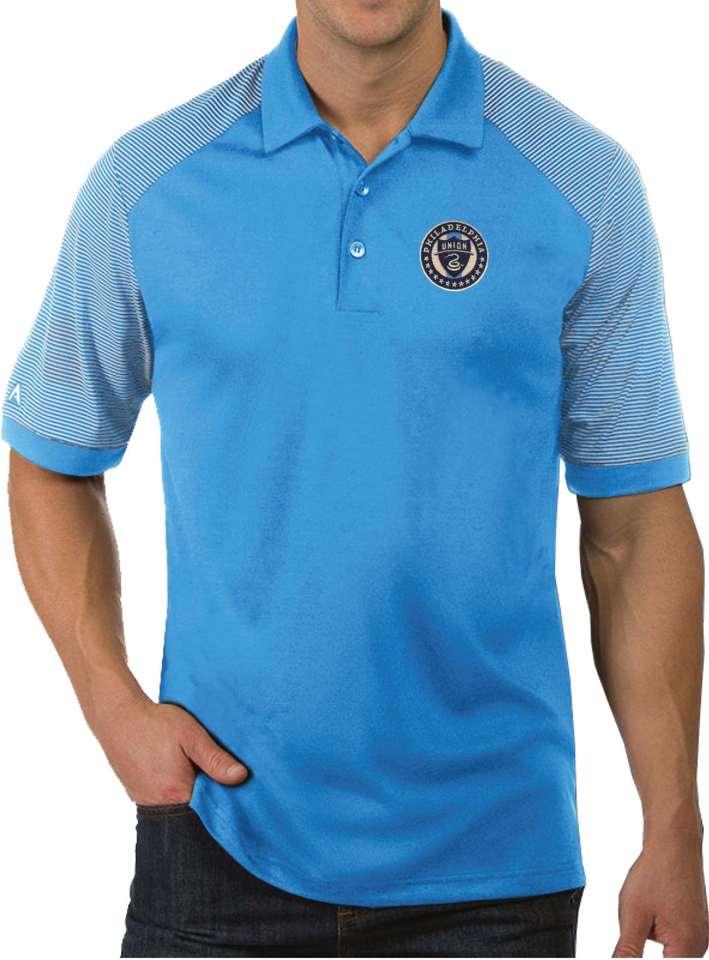 Antigua Men's Philadelphia Union Engage Blue Polo
