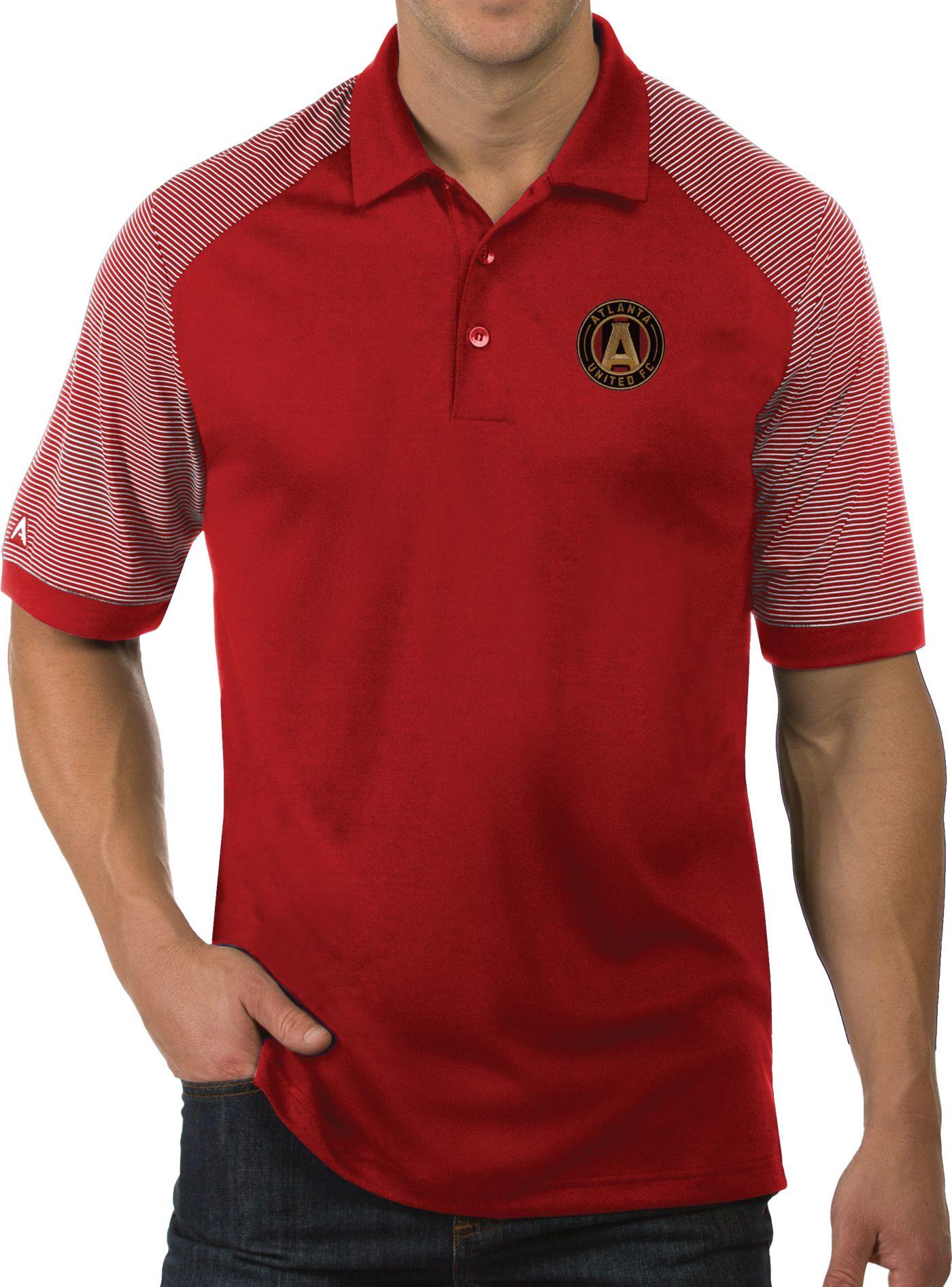 Antigua Men's Atlanta United Engage Red Polo