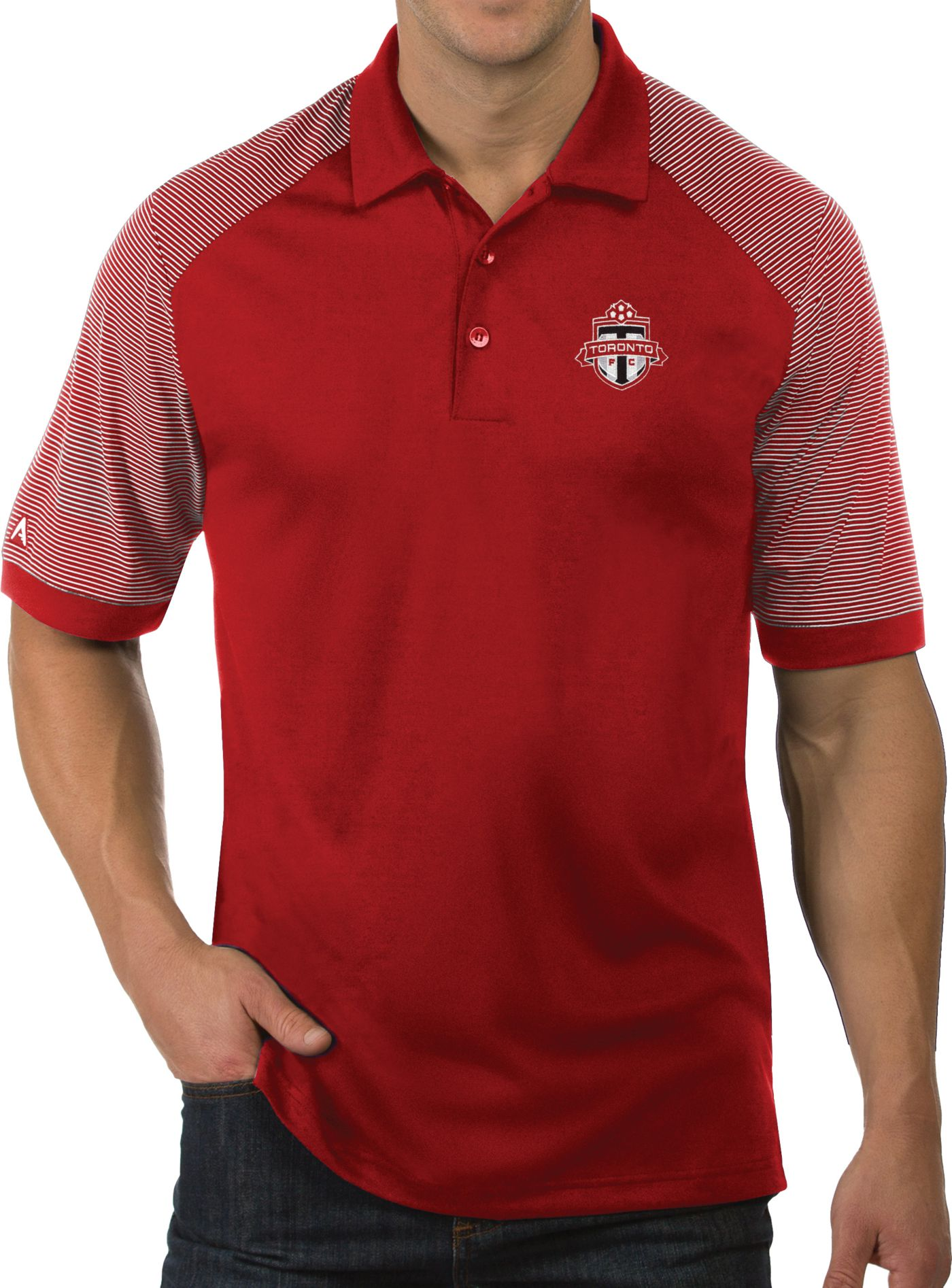 Antigua Men's Toronto FC Engage Blue Polo