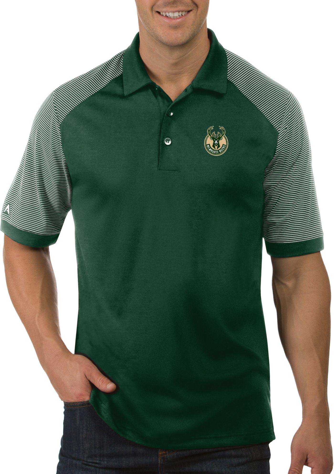 Antigua Men's Milwaukee Bucks Engage Polo