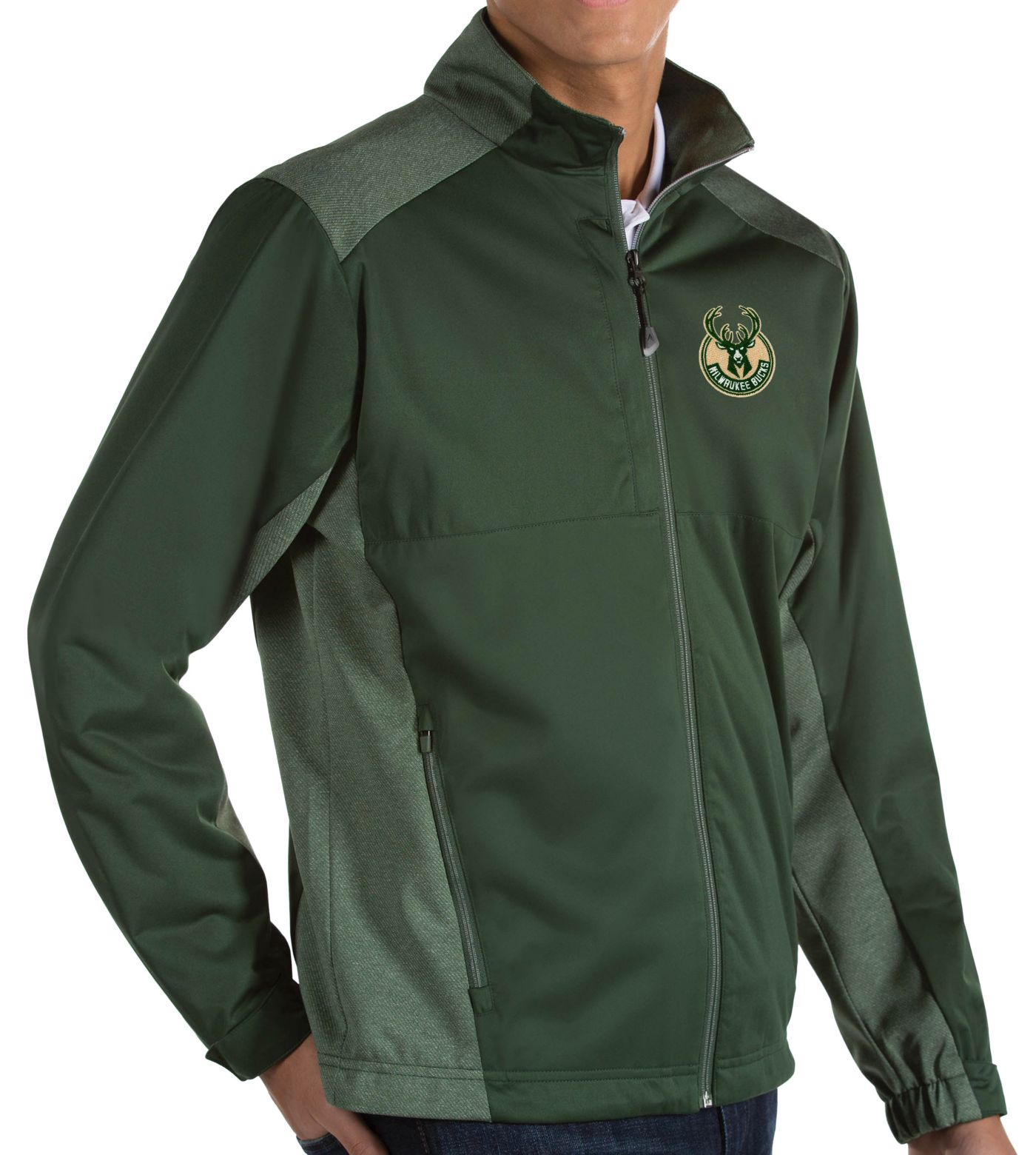 Antigua Men's Milwaukee Bucks Revolve Full-Zip Jacket