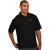 Antigua Men's Cleveland Cavaliers Xtra-Lite Black Pique Performance Polo