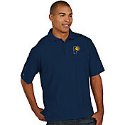 Antigua Men's Indiana Pacers Xtra-Lite Navy Pique Performance Polo