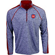 Antigua Men's Detroit Pistons Advantage Quarter-Zip Pullover