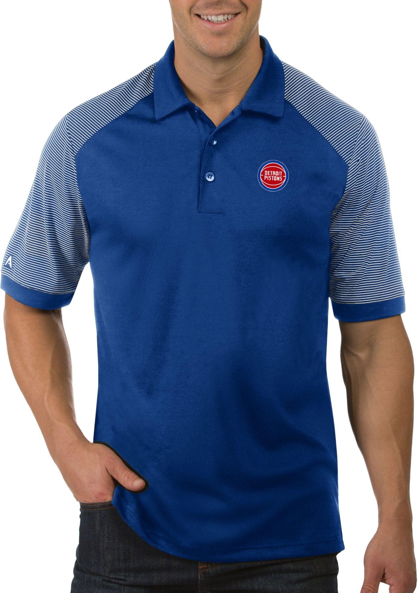 Antigua Men's Detroit Pistons Engage Polo