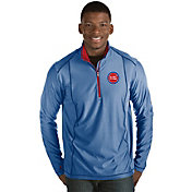 Antigua Men's Detroit Pistons Tempo Royal Quarter-Zip Pullover