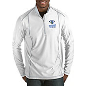 Antigua Men's 2018 NBA Champions Golden State Warriors Tempo White Quarter-Zip Pullover