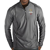 Antigua Men's 2018-19 National Championship Bound Alabama Crimson Tide Grey Tempo Half-Zip Pullover