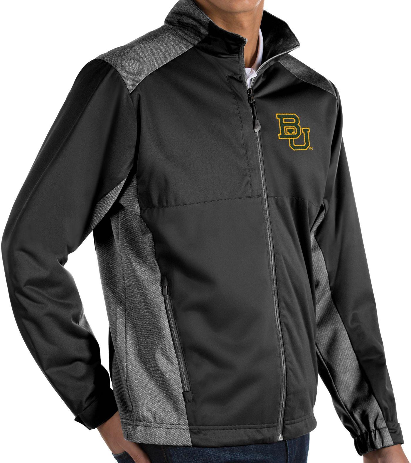 Antigua Men's Baylor Bears Revolve Full-Zip Black Jacket