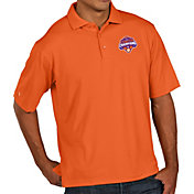 Antigua Men's 2018 National Champions Clemson Tigers Orange Pique Xtra-Lite Polo