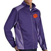 Antigua Men's Clemson Tigers Purple Revolve Full-Zip Jacket
