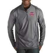 Antigua Men's 2018 National Champions Clemson Tigers Grey Tempo Half-Zip Pullover