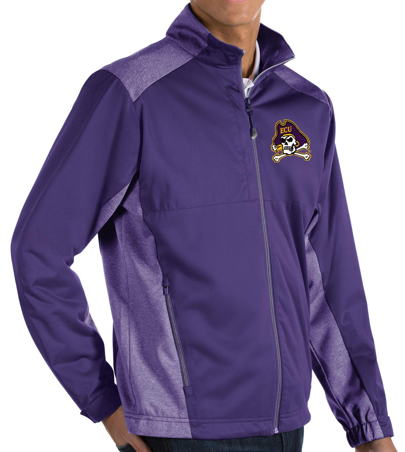 Antigua Men's East Carolina Pirates Purple Revolve Full-Zip Jacket