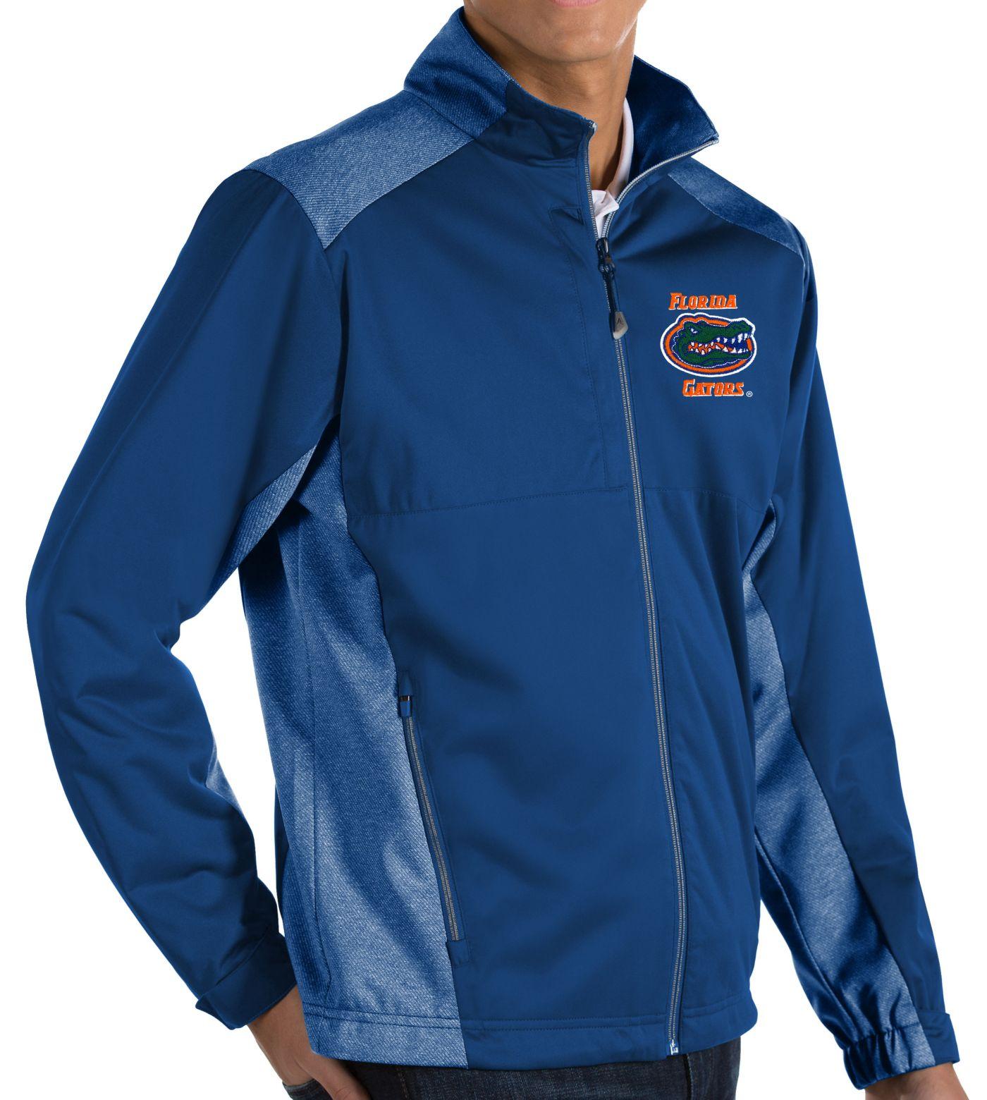 Antigua Men's Florida Gators Blue Revolve Full-Zip Jacket