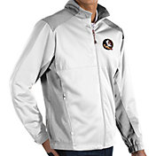 Antigua Men's Florida State Seminoles White Revolve Full-Zip Jacket