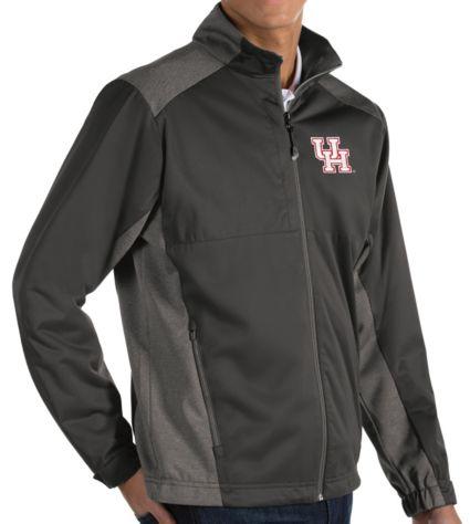 Antigua Men's Houston Cougars Grey Revolve Full-Zip Jacket