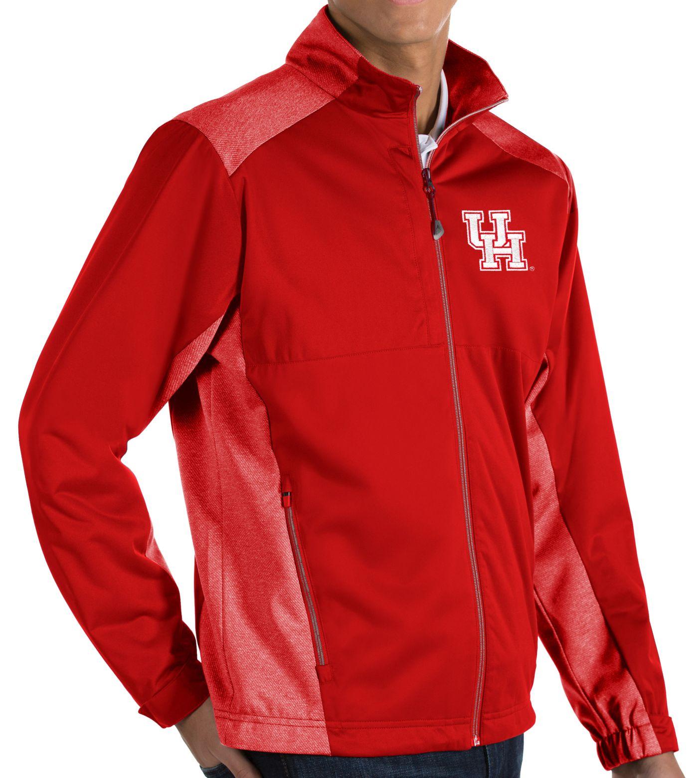 Antigua Men's Houston Cougars Red Revolve Full-Zip Jacket