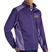 Antigua Men's James Madison Dukes Purple Revolve Full-Zip Jacket