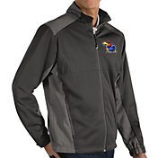 Antigua Men's Kansas Jayhawks Grey Revolve Full-Zip Jacket