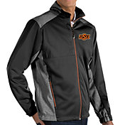 Antigua Men's Oklahoma State Cowboys Revolve Full-Zip Black Jacket