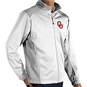Antigua Men's Oklahoma Sooners White Revolve Full-Zip Jacket