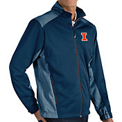 Antigua Men's Illinois Fighting Illini Blue Revolve Full-Zip Jacket