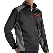 Antigua Men's Louisville Cardinals Revolve Full-Zip Black Jacket