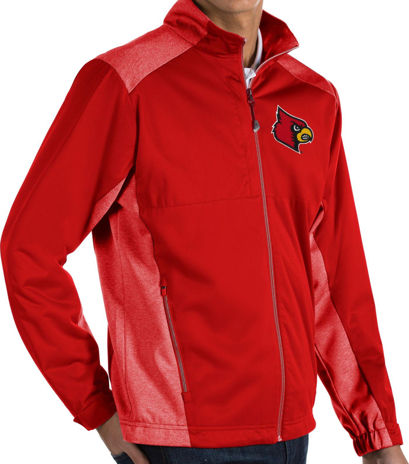 Antigua Men's Louisville Cardinals Cardinal Red Revolve Full-Zip Jacket