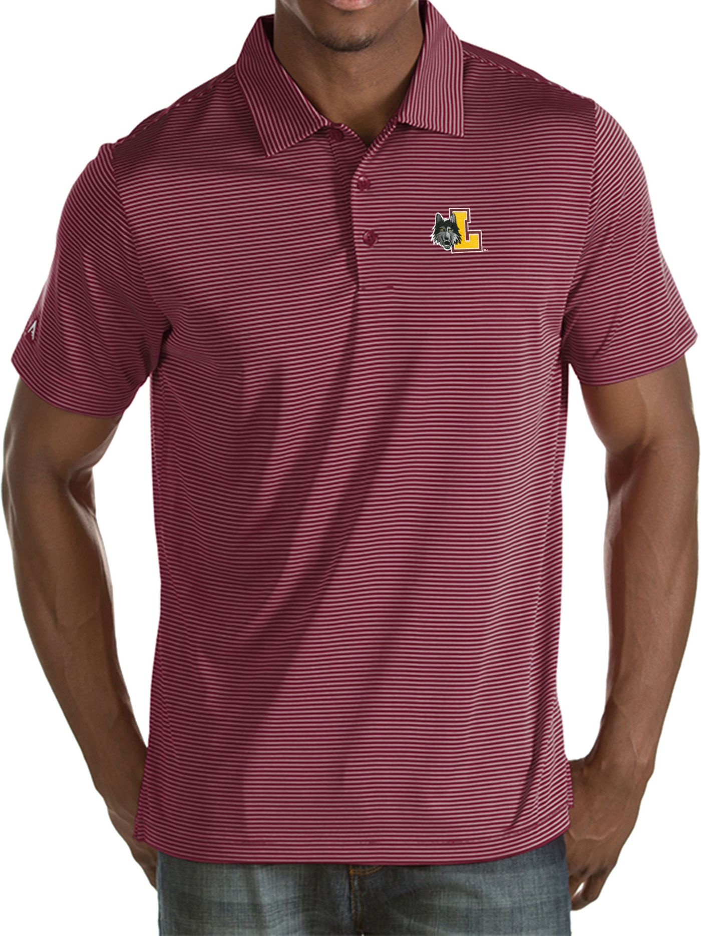 Antigua Men's Loyola Chicago Ramblers Maroon Quest Performance Polo