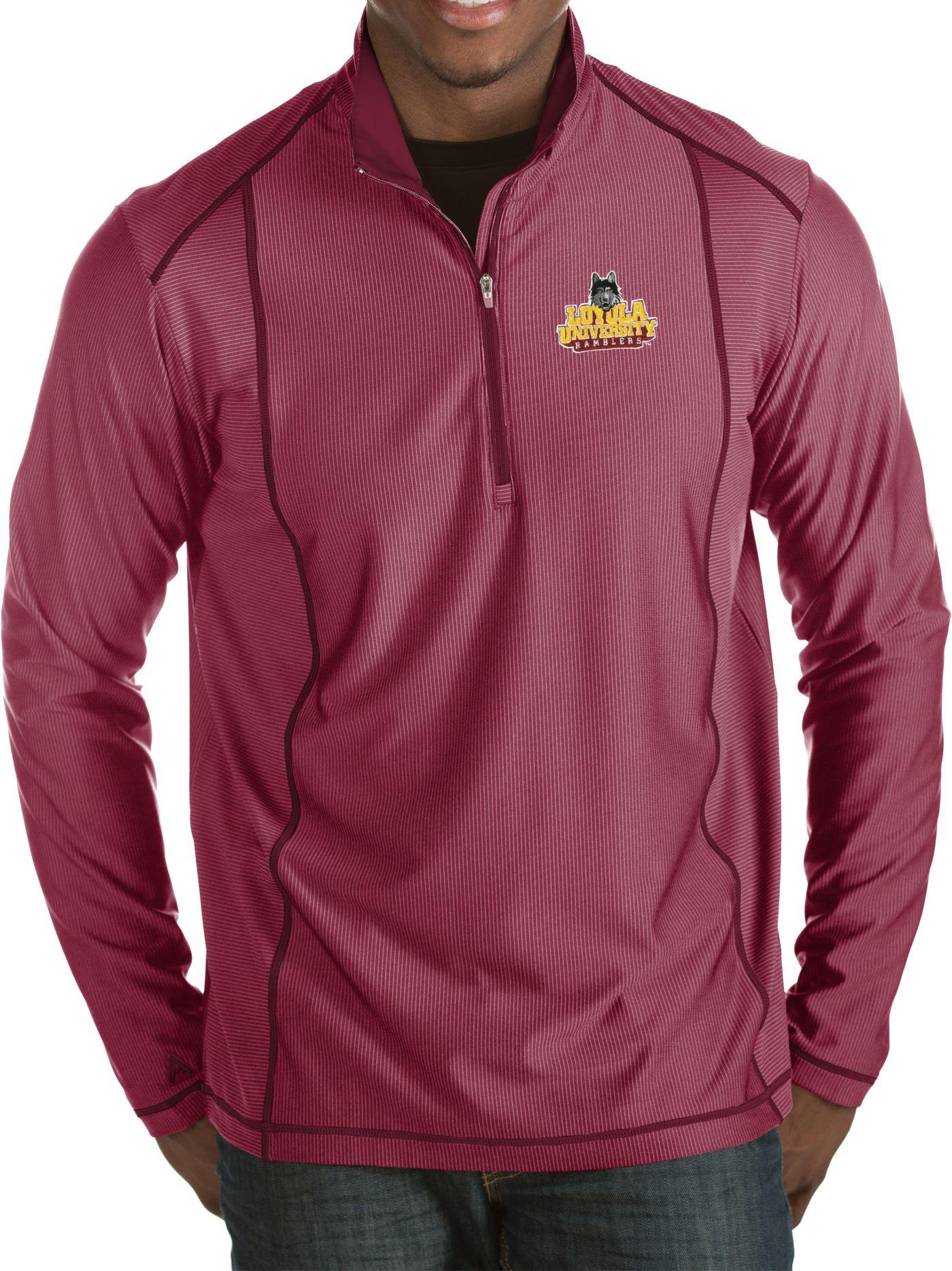 Antigua Men's Loyola Chicago Ramblers Maroon Tempo Half-Zip Pullover