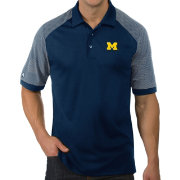 Antigua Men's Michigan Wolverines Blue Engage Performance Polo