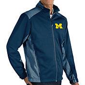 Antigua Men's Michigan Wolverines Blue Revolve Full-Zip Jacket