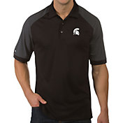 Antigua Men's Michigan State Spartans Engage Performance Black Polo