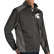Antigua Men's Michigan State Spartans Grey Revolve Full-Zip Jacket